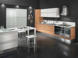 Modern Kitchen Sets In Gray Modern Kitchen Interior Black Flooring Decor Decosee Com