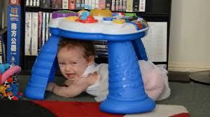 Baby Einstein Activity Table Isobel 42 Weeks Stuck Under Her Baby Einstein Play Table Youtube