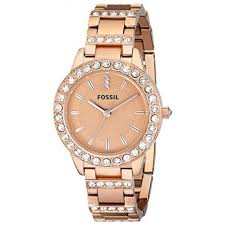 gold tone stainless steel bracelet images Fossil women 39 s es3020 jesse rose gold tone stainless steel watch jpg
