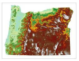 Us Map Topography Oregon Topographic Map Oregon Map