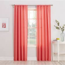Coral Sheer Curtains Rugs Curtains Modern Panel Coral Sheer Curtains With