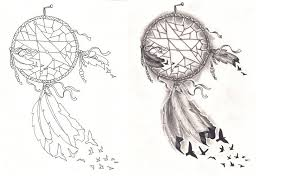 grey dreamcatcher and horse tattoos