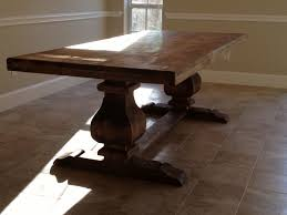 solid wood trestle dining table custom 7ft trestle table solid wood by hinojosa custom furniture