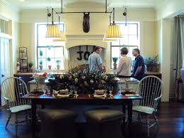 light of the home southern living idea house part four you see here that designer jamie mcpherson chose to place a farm table on one side of the island instead of creating a bar with stools