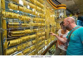 gold market in dubai stock photos gold market in dubai stock