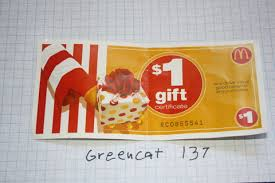 mcdonalds gift card discount free one 1 dollar mcdonalds gift certificate gift cards