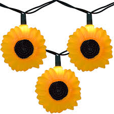 Novelty Patio Lights Sunflower String Lights
