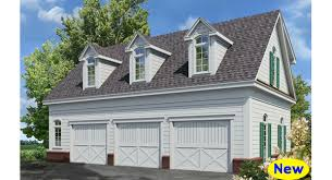 Carriage House Plans Detached Garage Plans by This Detached Garage Plan Features 3 Car Bays On The Ground Floor
