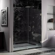 Glass Shower Door Ideas by Rustic Bathroom With Stacked Stone Tile And Glass Shower Door Also