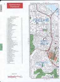 Portland City Maps by Portland Downtown Street Map