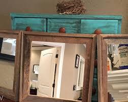 Wood Bathroom Mirror by Barnwood Mirrors Etsy