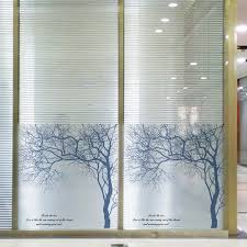 Window Decor Film High Quality Tree Pattern Home Decor 60x58cm Removable Stained