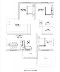 650 Square Feet by 1100 Square Feet 3 Bedroom Low Budget Home Design And Plan Home