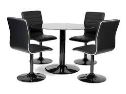 table cuisine 4 chaises table 4 chaises alister noir