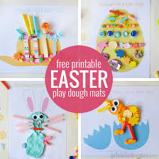 Easter Hat To Decorate by Easter Play Dough Mats Free Printable Picklebums