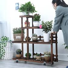 regal balkon wooden multilayer floor töpfe regal holz bonsai terrasse balkon