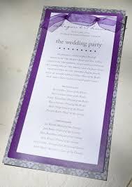 purple wedding programs 53 best wedding ceremony programs images on wedding