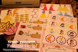 create princess birthday party free printables