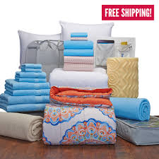 complete campus pak twin xl bedding and bath set dorm bedding