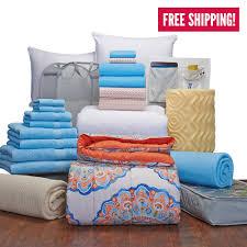complete campus pak twin xl bedding and bath set dorm bedding