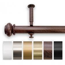 200 Inch Curtain Rod Bold Pole Adjustable 144 To 240 Inch Length Curtain Rod