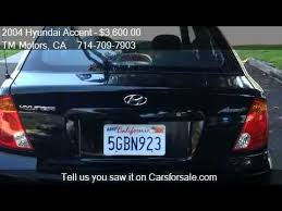 2004 hyundai accent for sale 2004 hyundai accent gl 3 door for sale in anaheim ca 9280