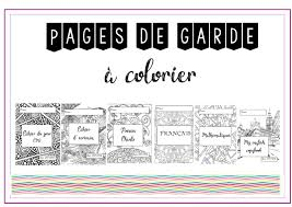 La classe de Virginia Les pages de garde à colorier