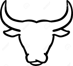 bull clipart outline pencil and in color bull clipart outline