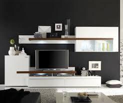 Schrankwand Wohnzimmer Modern Wohnwand Nussbaum Weiß Unruffled Auf Wohnzimmer Ideen Auch Weiss 6