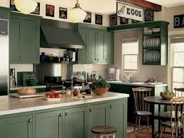 In The Green Kitchen - kitchen trendy green painted kitchen cabinets farmhouse sinks