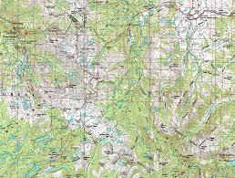 Map Of Yosemite Sonora Pass To Bensen Lake Pct Backpacking Map