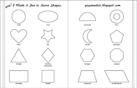 Free Printable Shapes Worksheets Worksheet Learning Shapes Laurelmacy Worksheets For Elementary