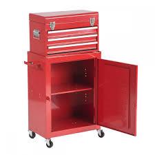 2pcs tool chest u0026 cabinet storage box rolling garage toolbox h45