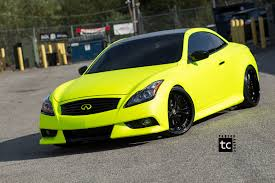 wrapped cars vwvortex com hi liter yellow wrapped infiniti g37