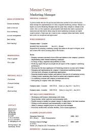 marketing manager resume marketing manager resume 1 brand sales caigns exles