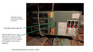 carrier furnace blinking yellow light gas furnace 1 green light on other 4 flashes hvac diy chatroom