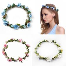 flower headpiece bridesmaid artificial flower wreath for hair floral headband