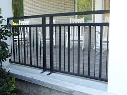 Patio Railing Designs Exterior Railing Metal Fabrication Aluminum Fabrication