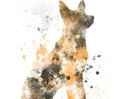 German Home Decor German Shepherd Etsy