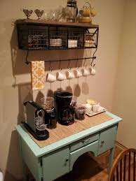 kitchen coffee bar ideas beautiful home coffee bar ideas on buffet found at a furniture