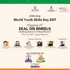 D H Flagging Flagged Off Ekal On Wheels Skilling Rural U0026 Tribal Bharat Skill
