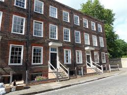 Row House Front Elevation - minor canon row rochester me1 4 bed terraced house for sale