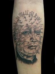 sad pinhead tattoo design make on forearm sleeve golfian com
