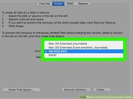 format hard drive exfat on mac how to format an external hard drive with pictures wikihow