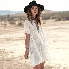 white summer dress 2018 bohemian white sweet lace dress women s style summer