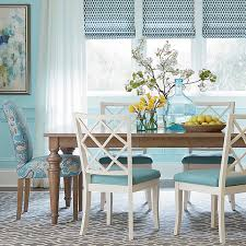 Teal Dining Table Rectangle Table Kitchen Dining Room Bassett Furniture