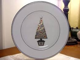 lenox federal platinum tree plate new federal