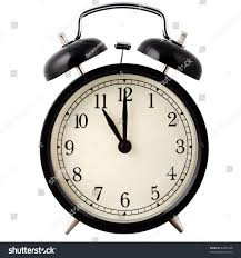 Old Fashioned Alarm Clocks Old Alarm Clock Black White Showing Stock Photo 82851928