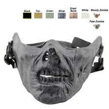 zombie half face mask online zombie half face mask for sale