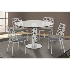 berlin round dining table in brushed stainless steel
